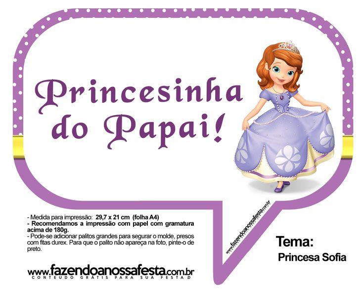 Plaquinhas Divertidas Princesa Sofia 11