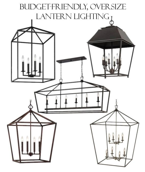 It's no secret I love oversize lantern chandeliers; I happen to think the bigger, the better!  Eve...