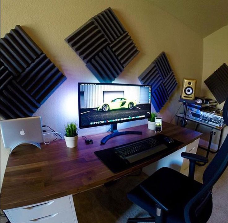 446 best desktop setups images on pinterest desks pc for Small room 7 1 setup