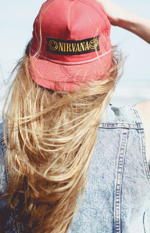 Windblown, long, straight, bright blonde hair. | via ginger-snapped.tumblr.com