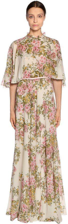 Beautiful floral long dress