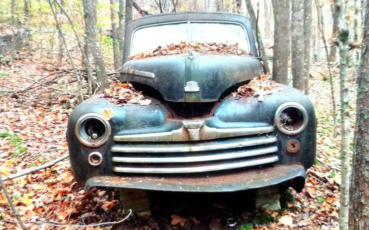 Woody In The Woods: 1948 Ford - http://barnfinds.com/woody-in-the-woods-1948-ford/