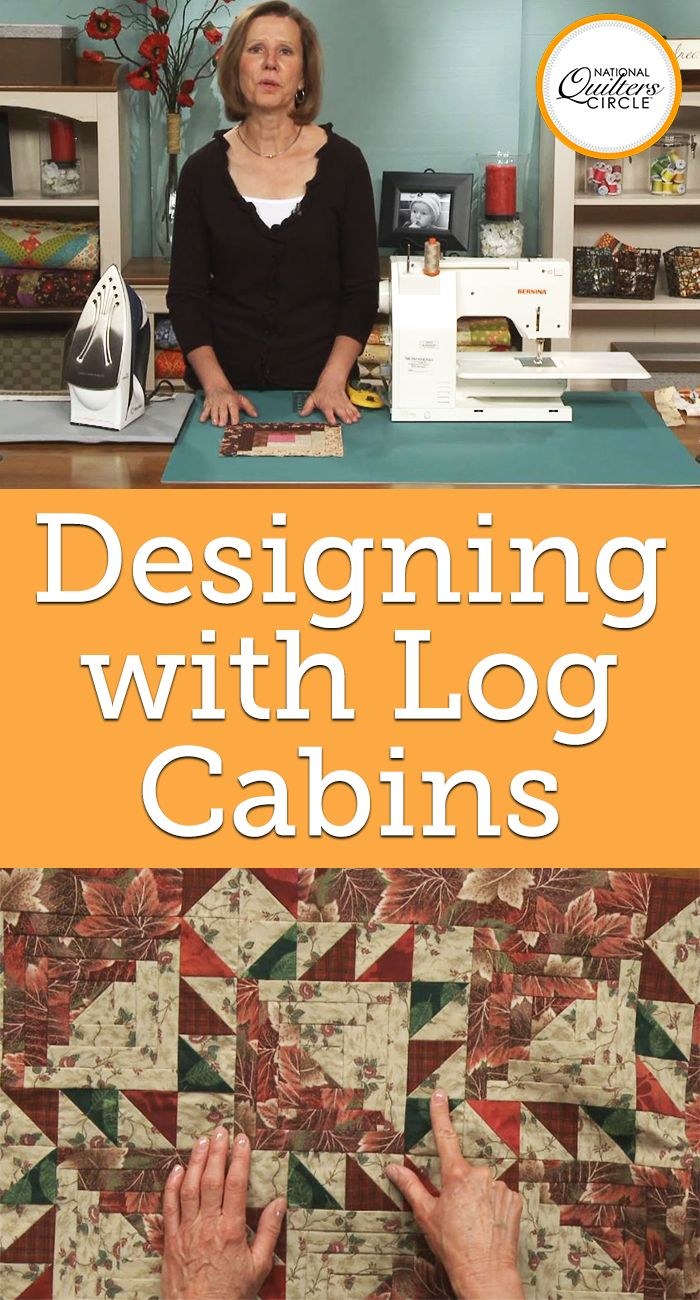 Learn about the popular log cabin quilt block and see how to piece it. Then, learn fun ways to design and customize the block to create different looks. Understand what classifies the block as 'traditional' and then see how to make it more modern by adding pieced centers or novelty fabric squares. 57 minutes.