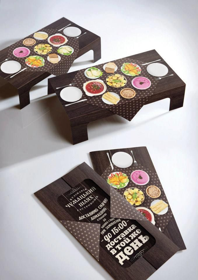 Business cards that turn into a mini table! So cute