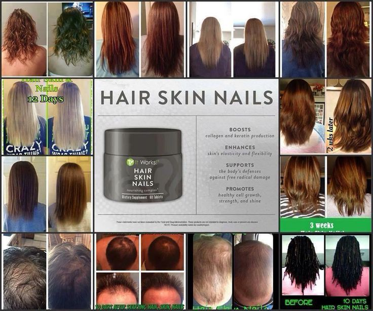 Amazing before and after of our hair skin and nails ...