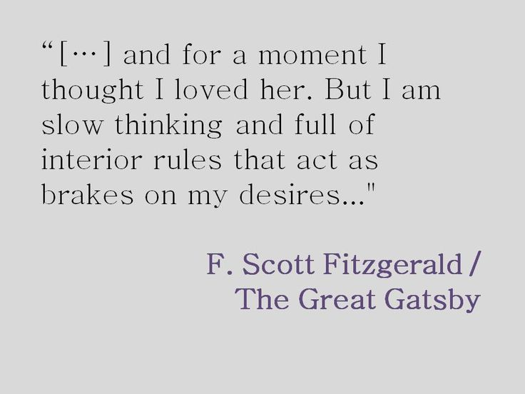 A comparison between nick carraway in the great gatsby and i