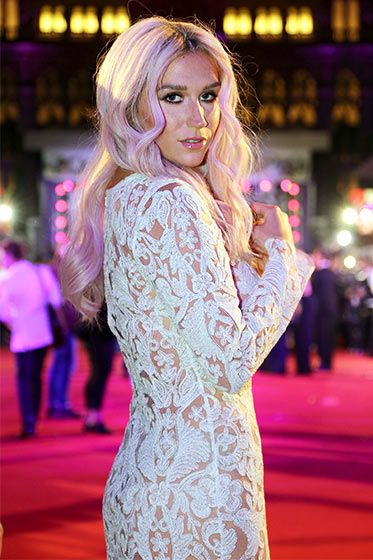 Kesha attends the Life Ball in Vienna, Austria on May 31 in a white lace dress