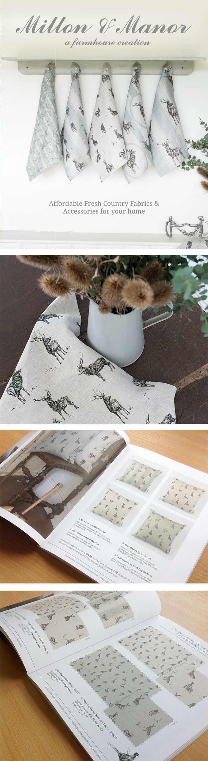 Milton and Manor 2013 fabric #catalogue by Orphans Press #Print
