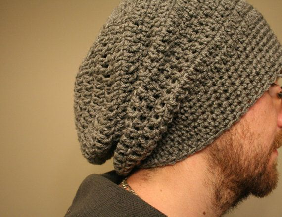 Free Crochet Pattern For Mens Slouchy Beanie : Pinterest The world s catalog of ideas