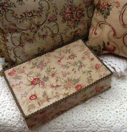 Love box and fabric on cushions