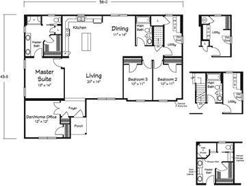 81 best modular homes images on pinterest modular homes Michigan home builders floor plans
