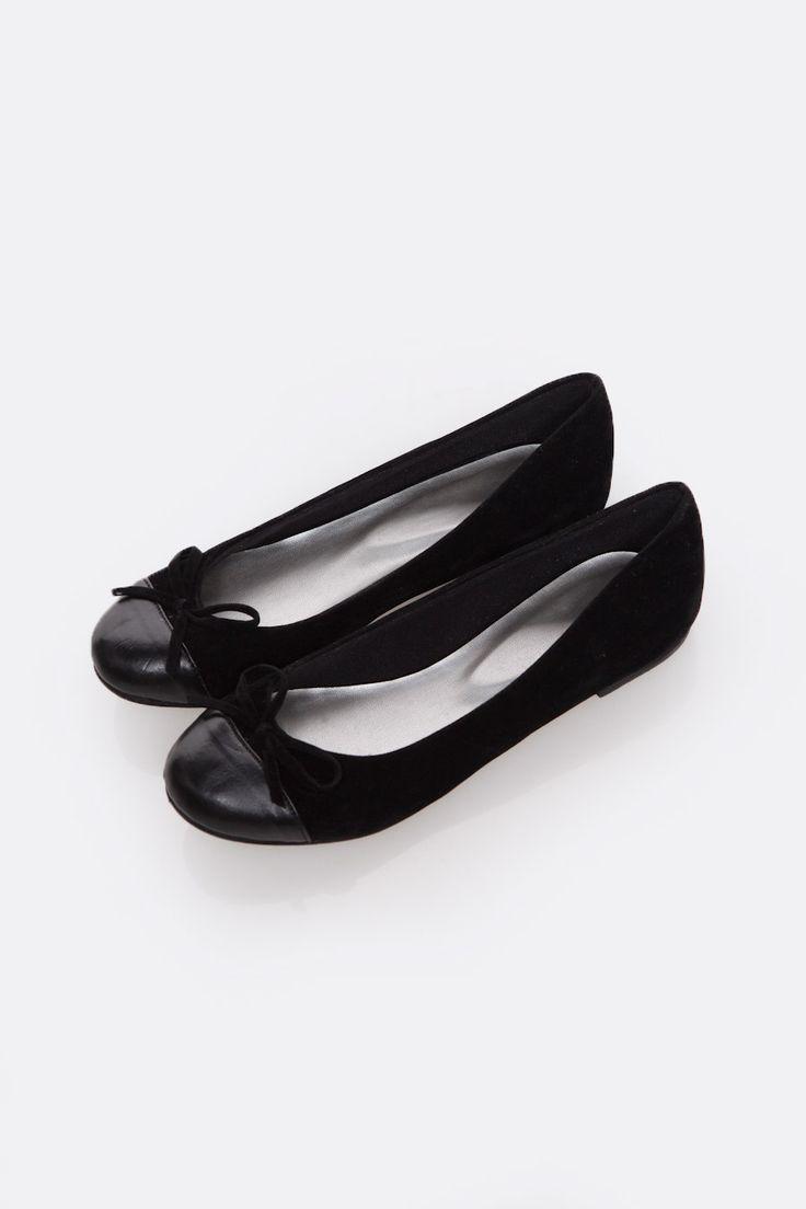 Tiny Bow Ballet Black