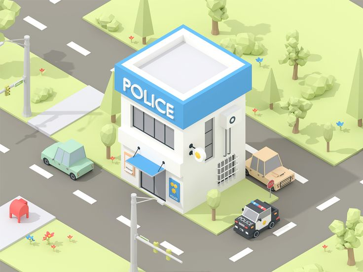 Isometric Police Building on Behance