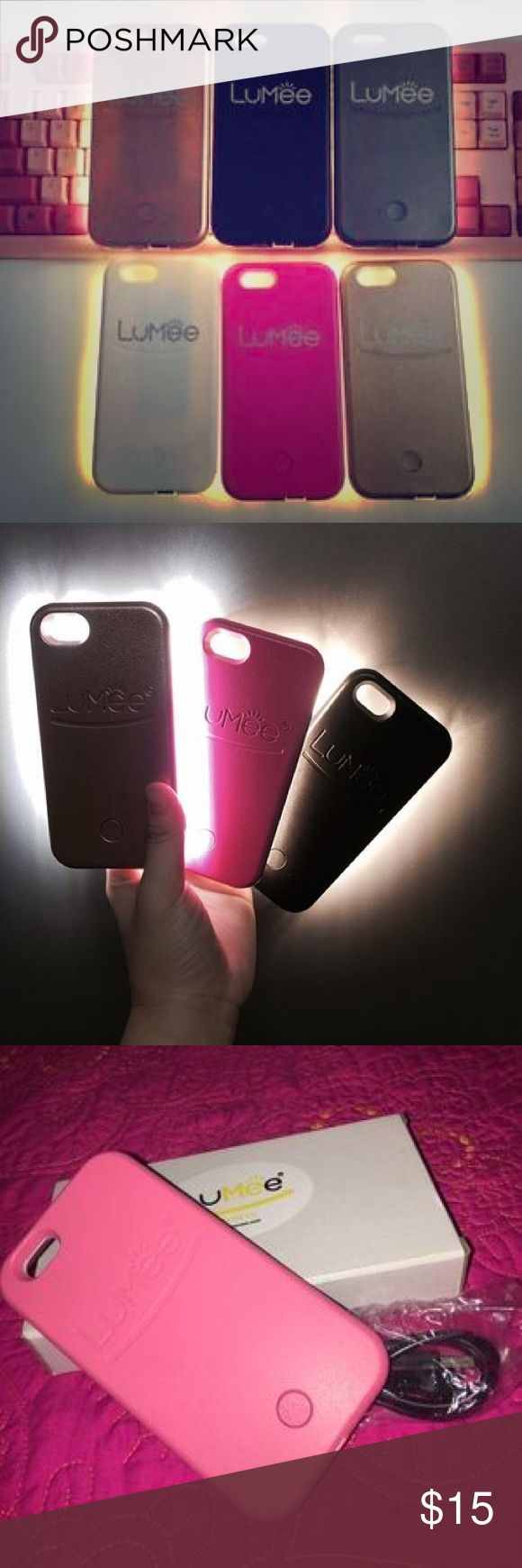 Light up selfie case for 6plus To select color click size              FAST And FREE SHIPPING  - POWER BANK that provides you with back up charge when need it - Use the front face LED light for: * Taking brighter selfie in dark places * While video chatting * Fixing your makeup in your night out. * Flash light in the parking lot on your way home after party * SOS/flicker mode for emergency. - provide a strong protection.  The LED light Function: One click  - high - low Double click - flicker…