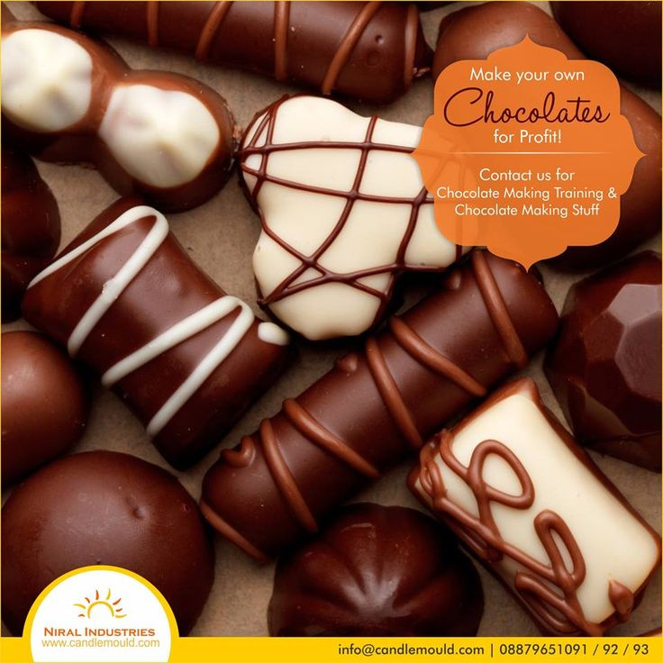 Make your own Chocolates for Profit! Contact us for chocolate Making Training & Chocolate Making Stuff  Call Us: 08879651091 / 92 / 93  Visit Us: www.candlemould.com