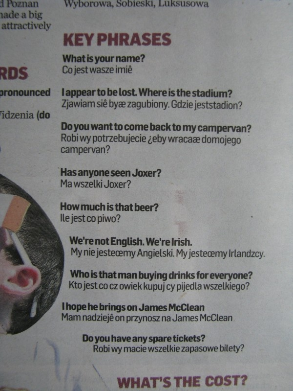 #Irish #Independent guiding through key phrases to make the most of the trip to #Poland