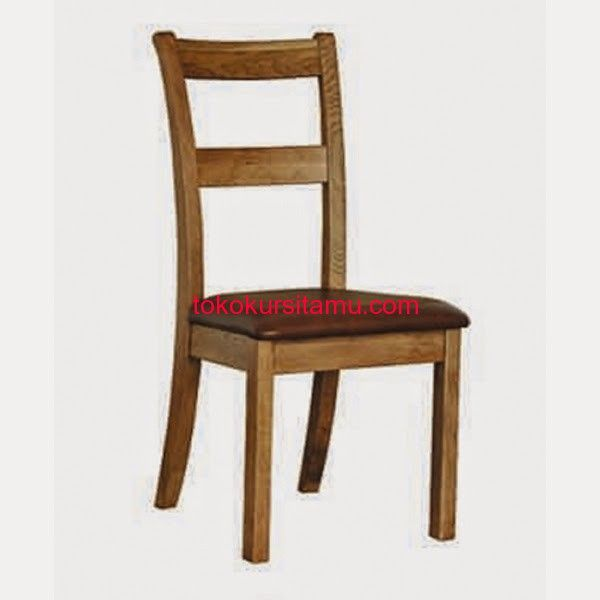Kursi Makan Minimalis Lengkung W-07HAQ terbuat dari kayu jati dengan sandaran lengkung terdapat busa dan jok pada dudukan yang empuk dan nyaman.