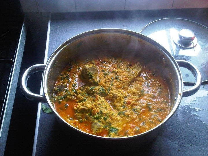 Egusi soup!! African food