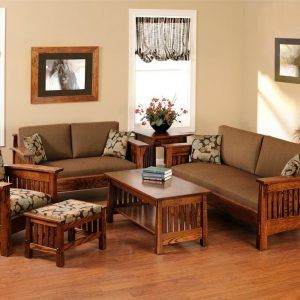 Wooden Living Room Set Designs