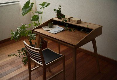 The simple lines of Japanese furniture.