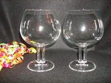 Rosenthal German Crystal Cupola Brandy Snifters Vintage Bar Ware Wine Tasting