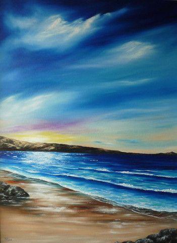 Gullane Beach - Seascape Painting - Fine Art - The Global Art Company