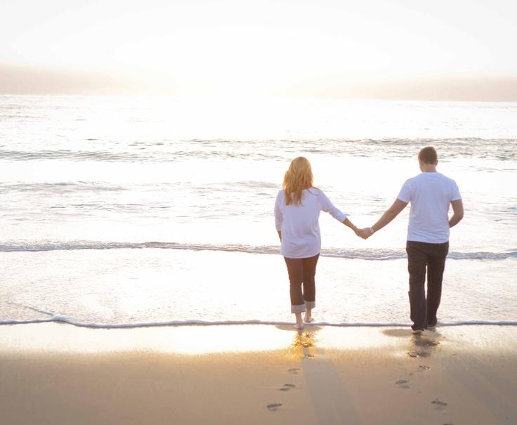 Sunset Beach Engagement Photos