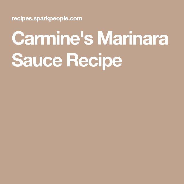 Carmine's Marinara Sauce Recipe