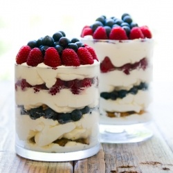 ... Chip Trifle - made with blueberries, raspberries, and mascarpone