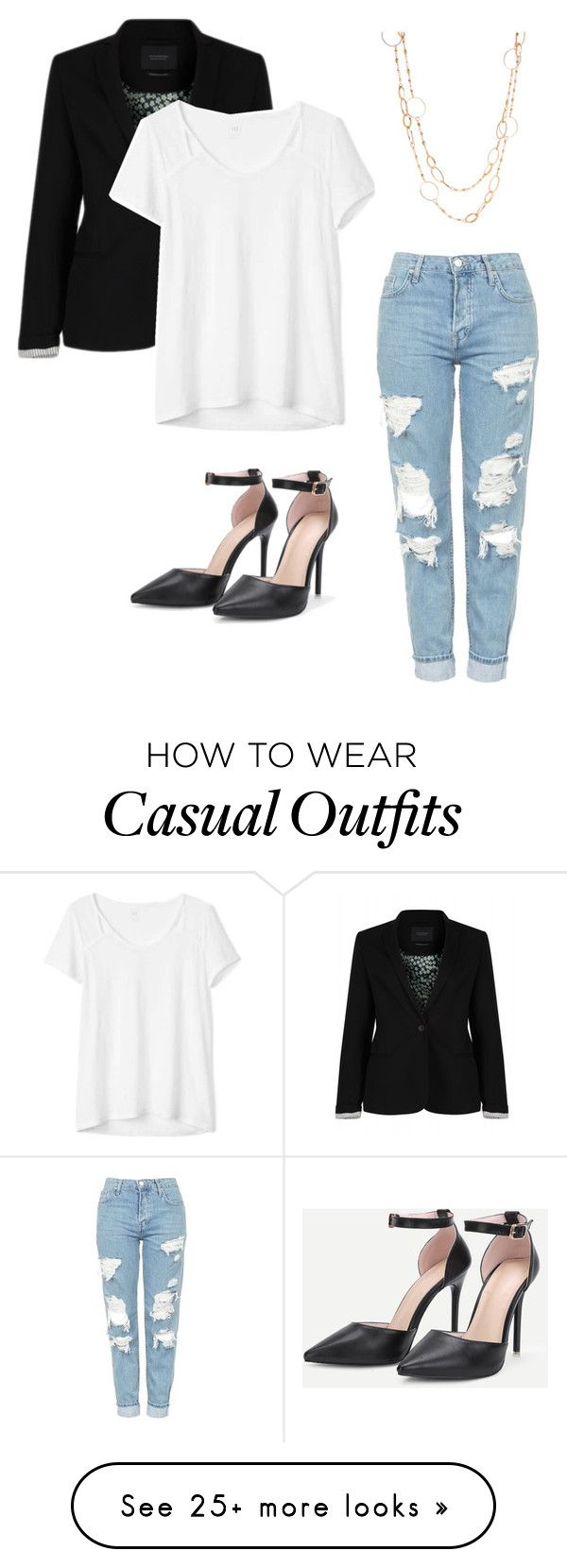 """""""Casual But Classy"""" by shreyamohanty on Polyvore featuring Maison Scotch, Gap and Topshop"""