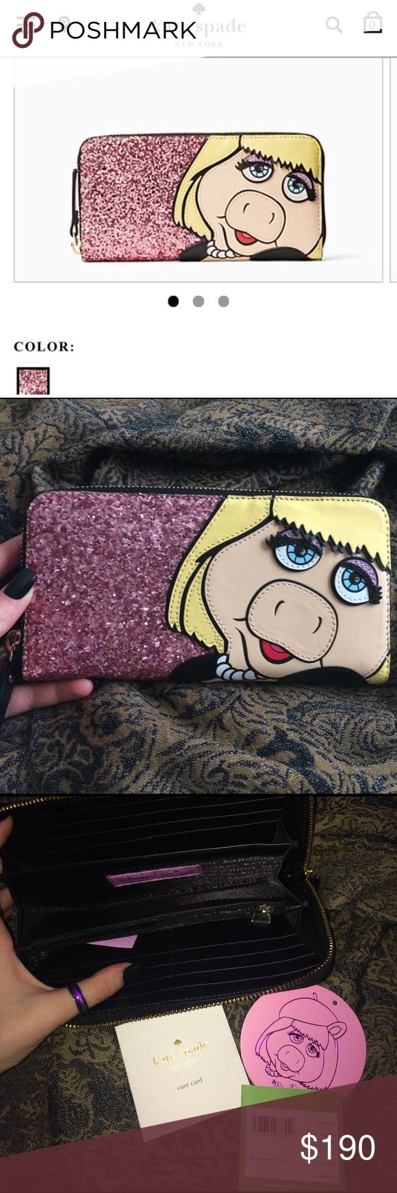 NEW♥️ KATE SPADE WALLET totally ♥️SOLD OUT♥️ in stores ONLY AVAILABLE HERE! 🔮miss piggy collection 🏳️🌈NEVER USED  🍷NEW WITH TAGS ⚰️HUGE discount! 🗝only REASONABLE offers kate spade Bags Wallets