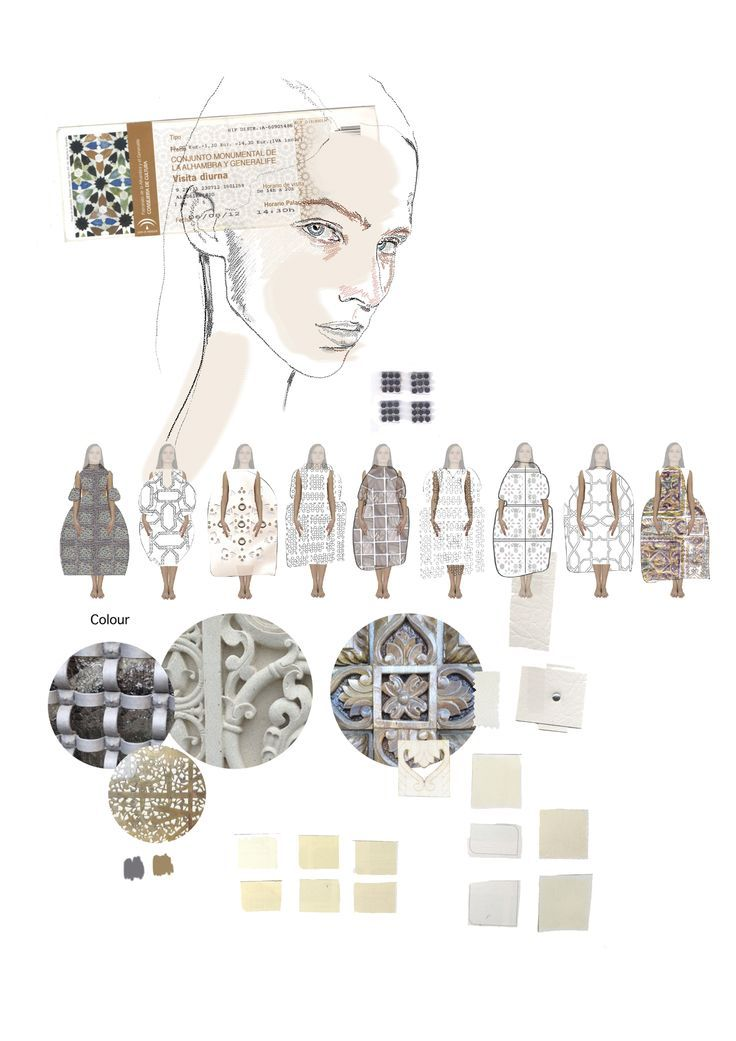 Fashion Portfolio - fashion illustration; lineup; creative process; fashion sketchbook // Caroline Sheraton