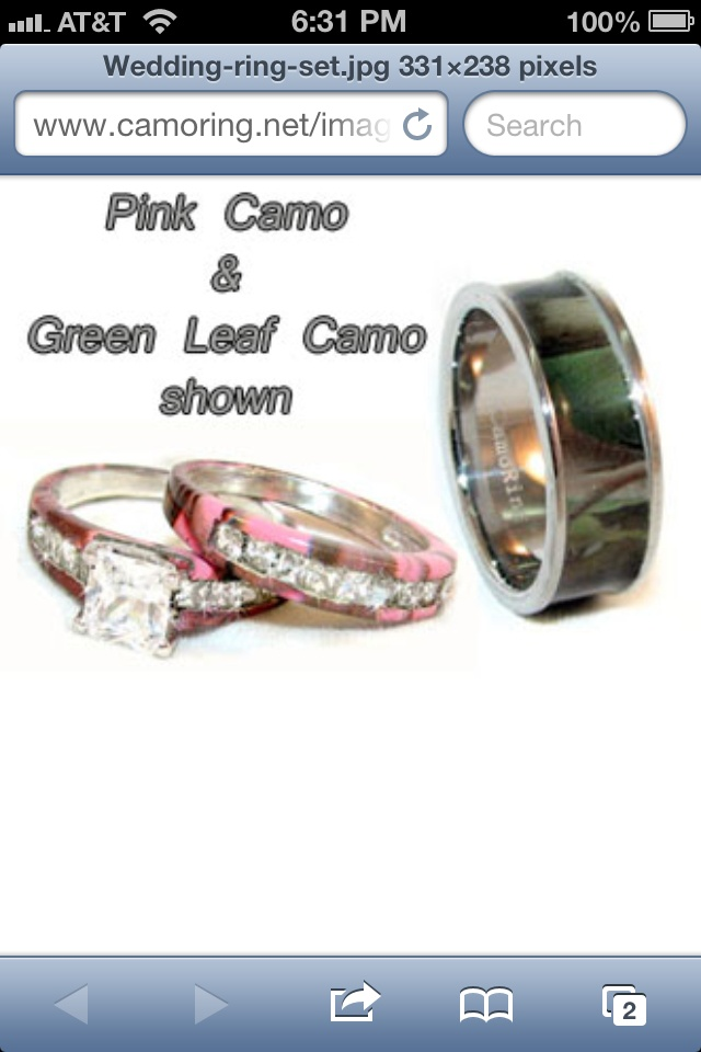 Camo Wedding Rings