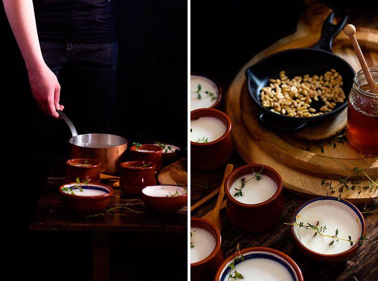 Yerbabuena en la cocina: Cuajada de cabra y tomillo