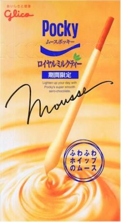 Royal Milk tea Pocky Mousse http://buypocky.com/product/royal-milk-tea-mousse-pocky/