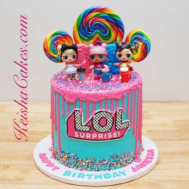 LOL Dolls birthday cake. Visit www.keishacakes.com for more info – Keisha Cakes