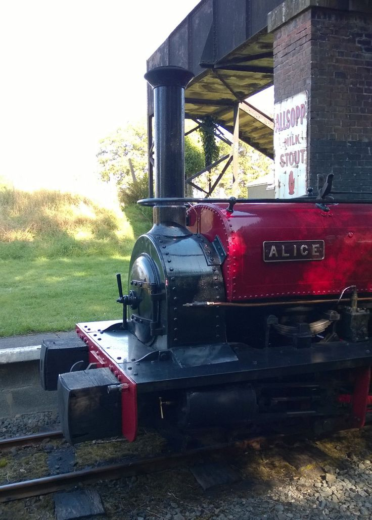 Alice our famous quarry locomotive awaiting departure from our station at Bala