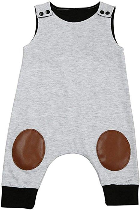 231ff2e2a Amazon.com: HappyMA Infant Toddler Baby Boy Romper Summer Jumpsuit  Sleeveless Clothing Set (Grey ## 1, 18-24 Months): Clothing