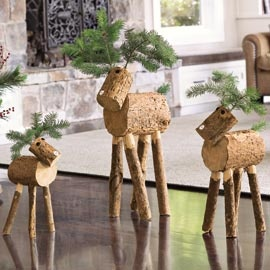 Log reindeer - these are small but I want to make them from some pine trees that fell down in Hurricane Sandy and put them outside the front door