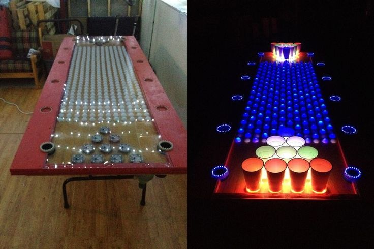 Interactive LED Beer Pong Table Has More Features Than You Can Shake a Stick At