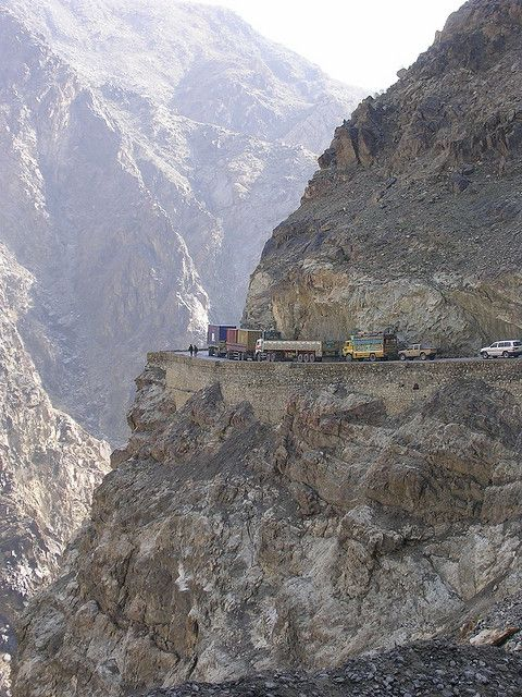 Jalalabad road, Afghanistan -  The bottom of this picture is not anywhere near the Kabul River at the bottom of the canyon.