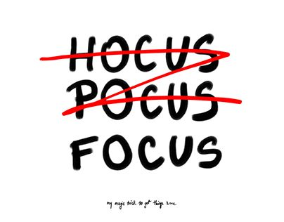 """Check out new work on my @Behance portfolio: """"Hocus Pocus Focus: my magic trick to get things dONE.."""" http://be.net/gallery/40683839/Hocus-Pocus-Focus-my-magic-trick-to-get-things-dONE"""