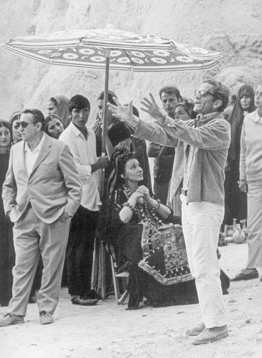Pier Paolo Pasolini e Maria Callas in Cappadocia sul set del film Medea - Foto di Mario Tursi