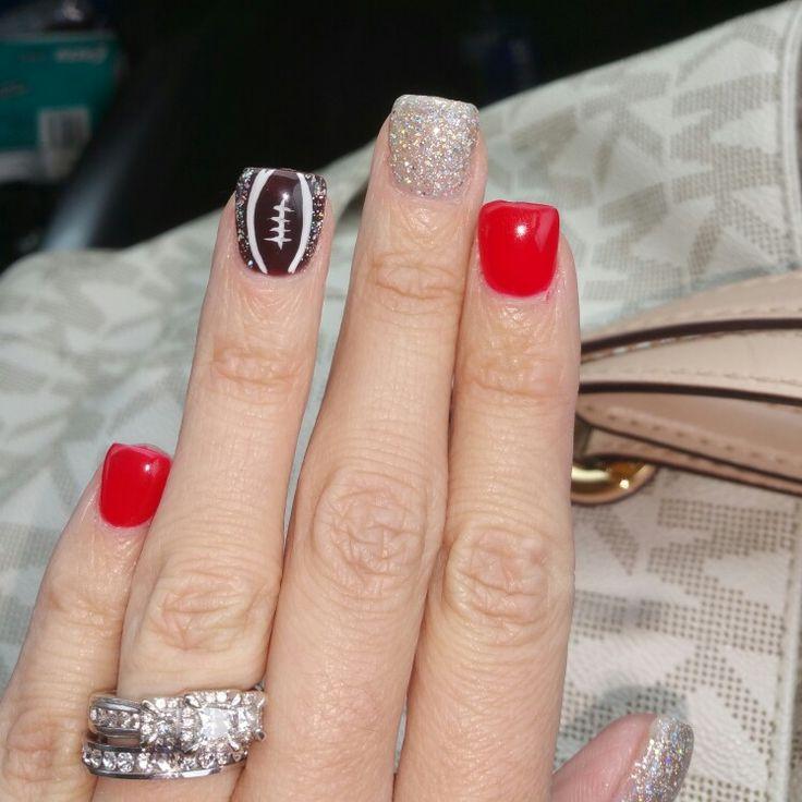 My ohio state nails thanks to tonys nails!