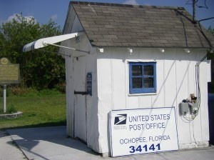 on 26 July, in 1775, the U.S. postal system was established by the Second Continental Congress, with Benjamin Franklin as its first postmaster general.  Ochopee, Fl in the Everglades. Smallest Post office in the US