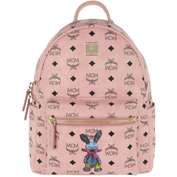 MCM Shoulder Bag - Rabbit Backpack Small Light Pink - in rose -... (£555) ❤ liked on Polyvore featuring bags, rose, zip shoulder bag, pink bag, zipper bag, padded bag and zip bag