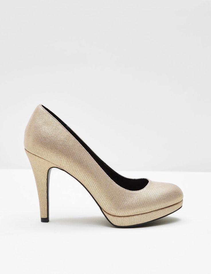 Escarpins effet brillant dorés femme • Jennyfer