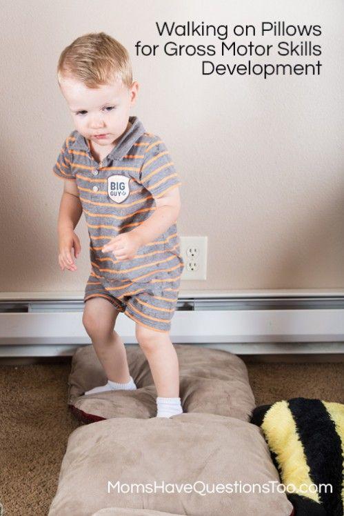 Fun toddler activity for gross motor skills development for Gross motor toddler activities