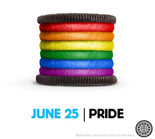 Conservative groups are calling for a boycott of Nabisco for their support of National Pride Month.  Repin to show your support of Nabisco, and go out and buy some Oreos!