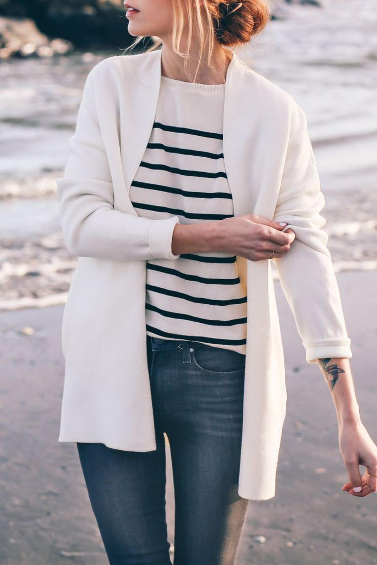 Stripe sweater / Prosecco & PLaid